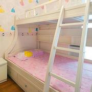 唯美风格儿童房双人床