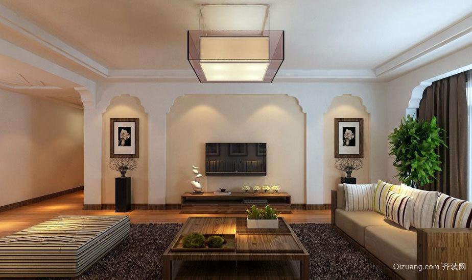 150平米利用简单色彩搭配原木设计的婚房装修效果图