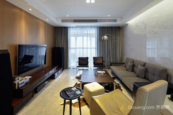 138平米简约风两居室家庭室内设计装修效果图