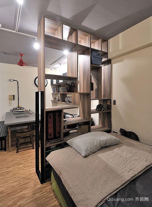现代都市工业风格卧室吊顶造型装修效果图大全