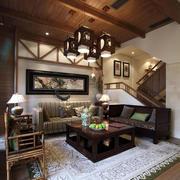 中式家装地板砖图片