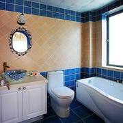 蓝白相间小卫生间装修