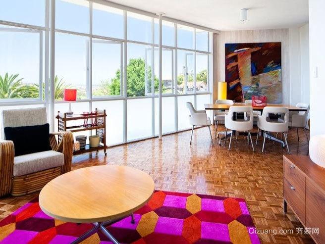100平米吸引眼球的家居公寓装修效果图