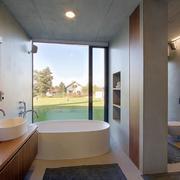 敞开式浴室窗户设计