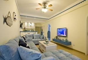 让你置身海边的地中海风格单身公寓装修效果图