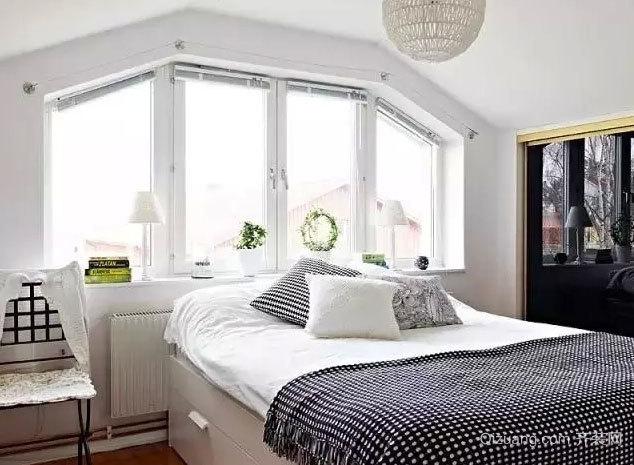 打造极致简约的北欧风格卧室吊顶造型装修效果图大全