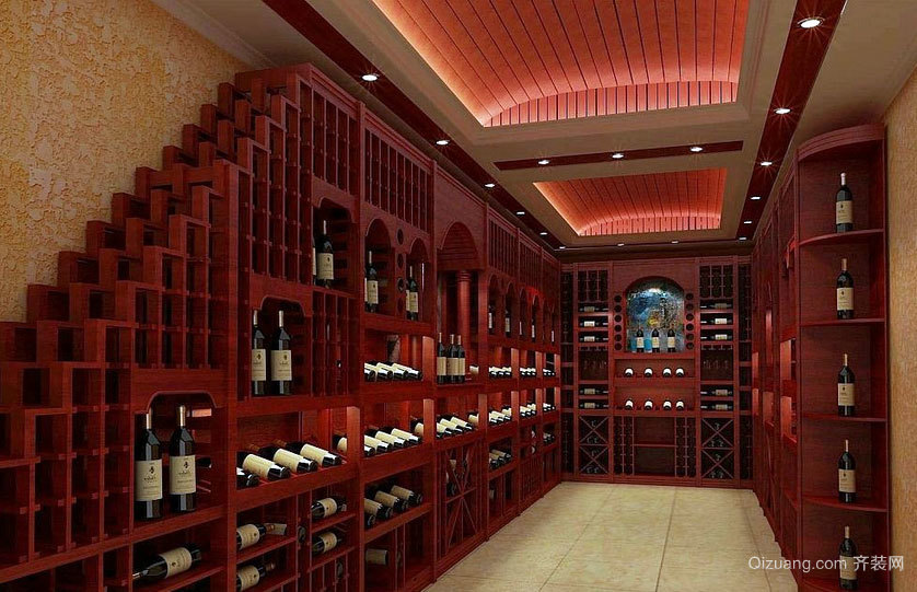 2015大户型精致奢华的欧式葡萄酒架设计效果图鉴赏