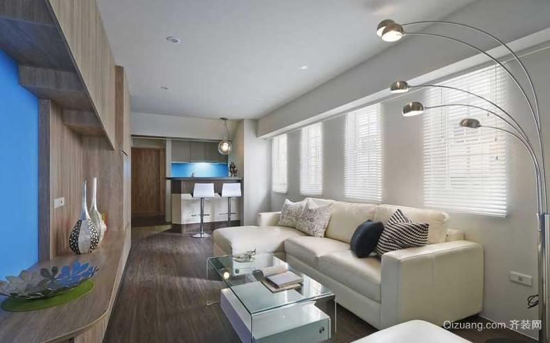 狭长型90平米小户型两室一厅装修设计效果图