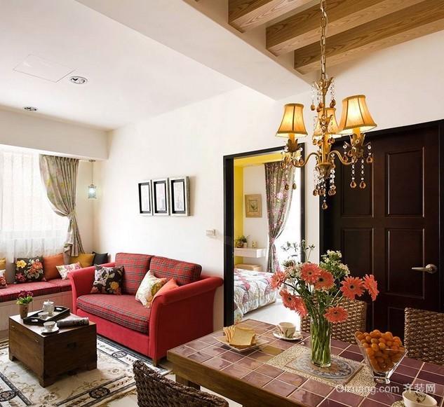 紧凑型60平米两室一厅室内装修设计效果图