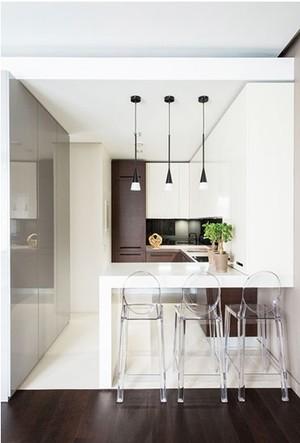 小而精的50平米一居室小餐厅装修效果图