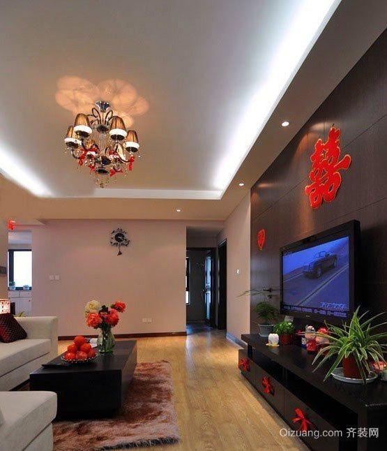 90平米现代简约风格浪漫幸福的房屋装修效果图