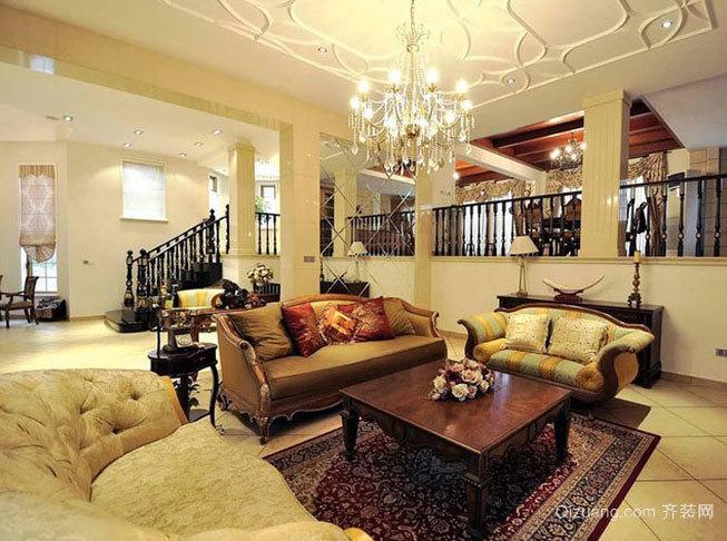 大户型朴素温馨的中式别墅家居装修效果图