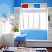 蓝白相间儿童房装修