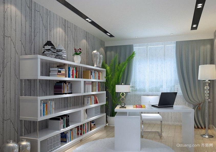 大户型简约大方的家庭书房装修效果图鉴赏