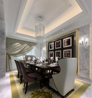 小户型清新明亮的欧式餐厅背景墙装修效果图