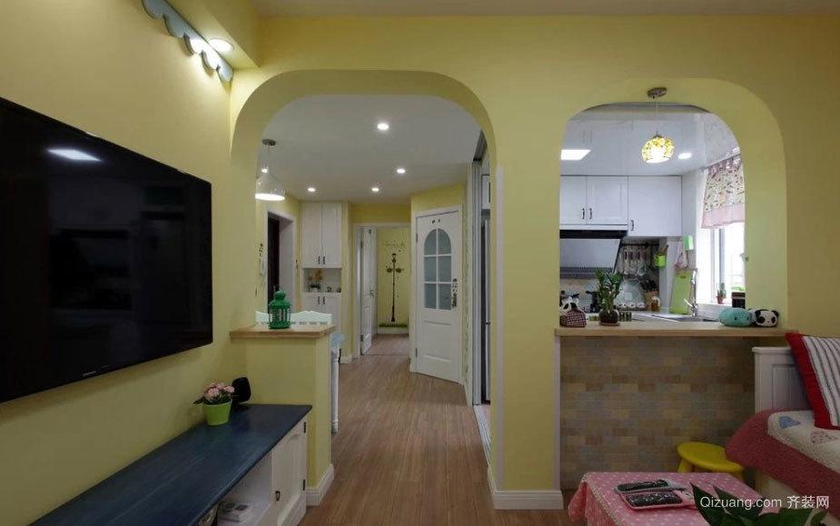 造价6万打造的清新童话般的两居房屋装修效果图