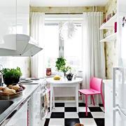 清新色调厨房装修设计