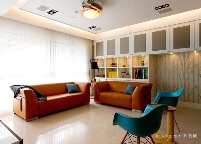 2015时尚大气有质感的现代大户型客厅装修效果图