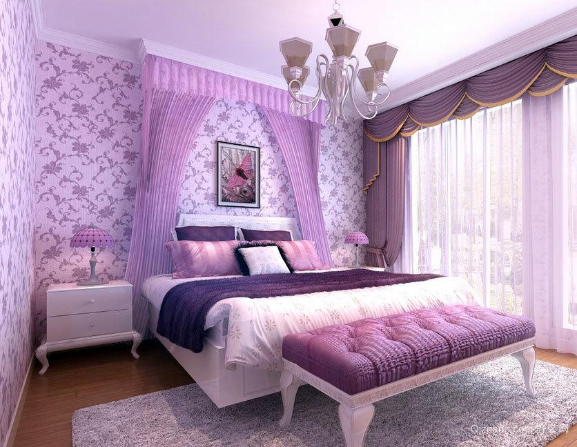 单身公寓经典潮流的现代卧室壁纸装修效果图鉴赏