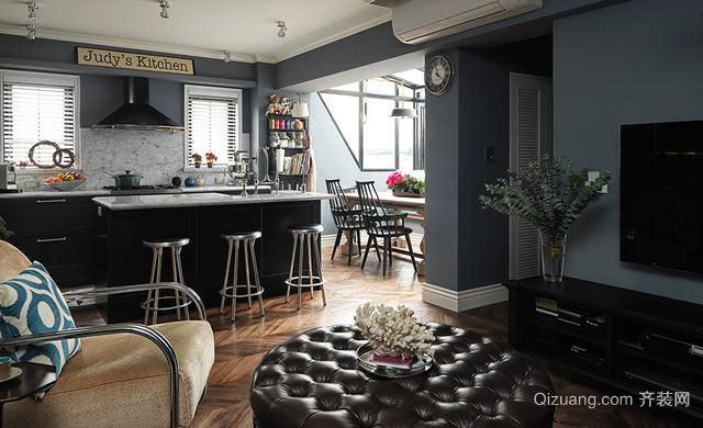 体味小我之乐:80平米美式小loft公寓装修实景图