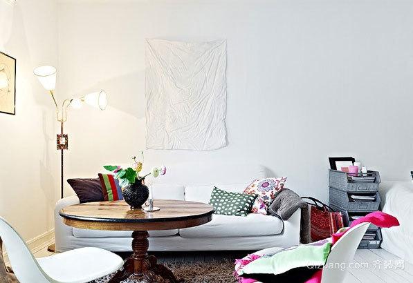 40平米小户型靓丽单身公寓装修效果图