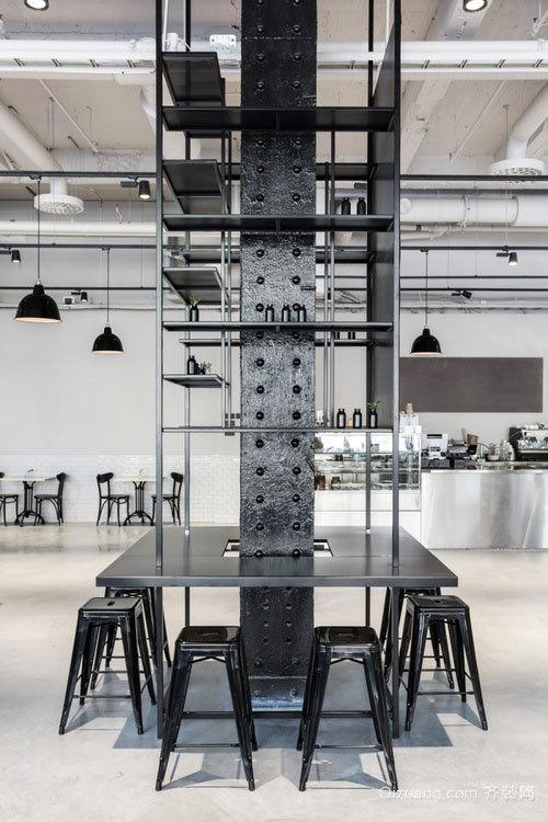 银灰系列简约时尚90㎡男士单身公寓中装修效果图