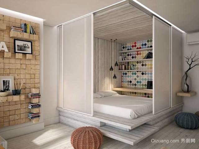 采光功能强大的40㎡客厅软装设计效果图