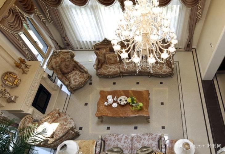 清新雅致的现代法式风格客厅吊顶装修效果图欣赏