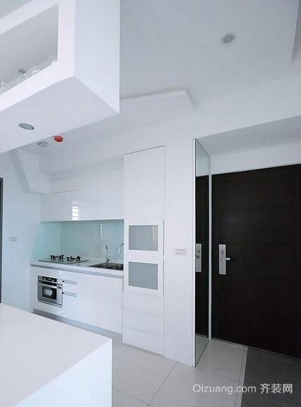 纯情洁白清爽一居室小户型家居装修效果图