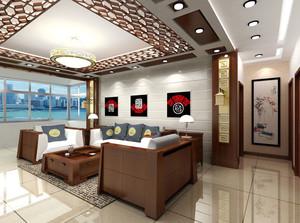 精心打造的中式风格客厅吊顶装修效果图