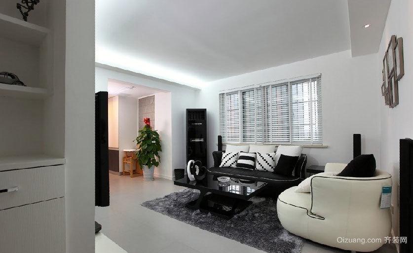 90平米黑白强烈比拼震撼视觉的房屋装修效果图