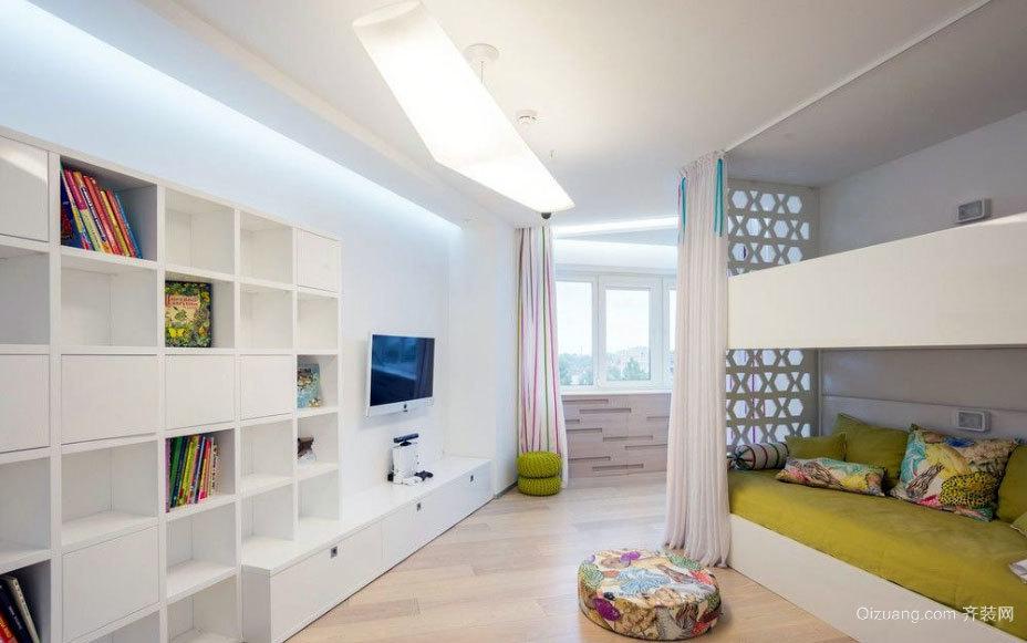 140平米清澈典雅白色系房屋装修效果图