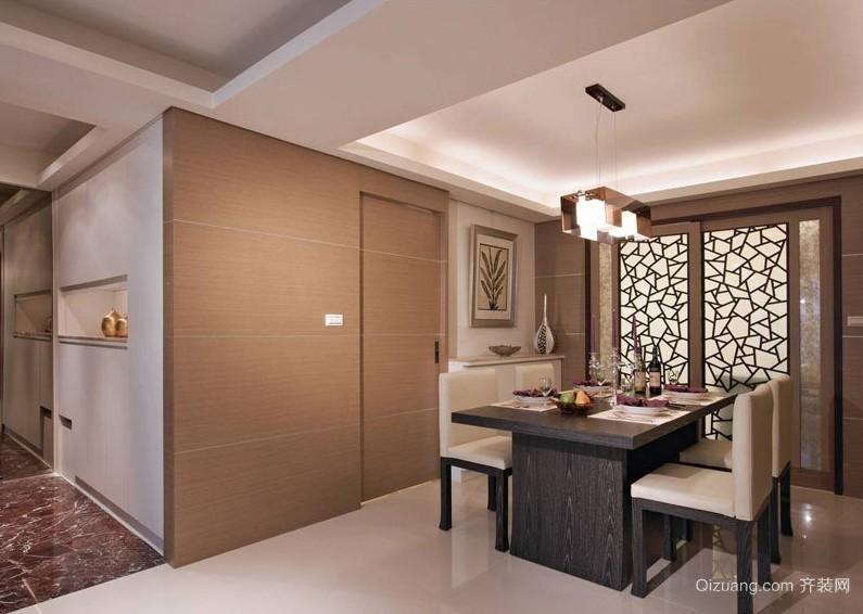 100平米家庭开放式餐厅装修效果图