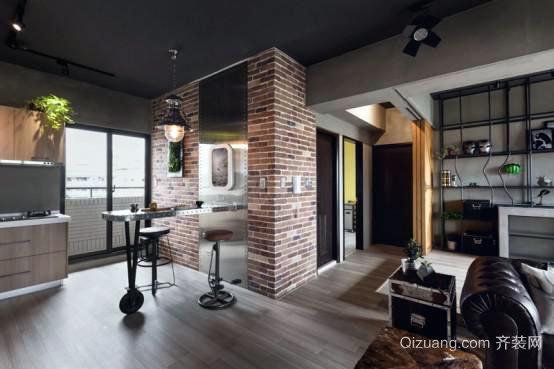 富有新奇冷感的后现代loft公寓装修效果图