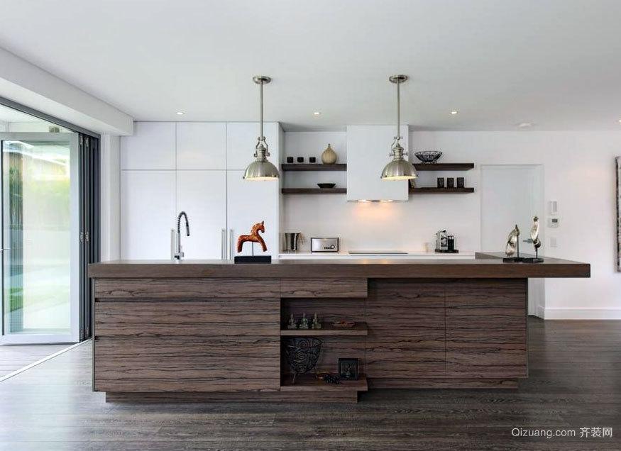 大户型时尚方便的欧式开放式厨房装修效果图鉴赏