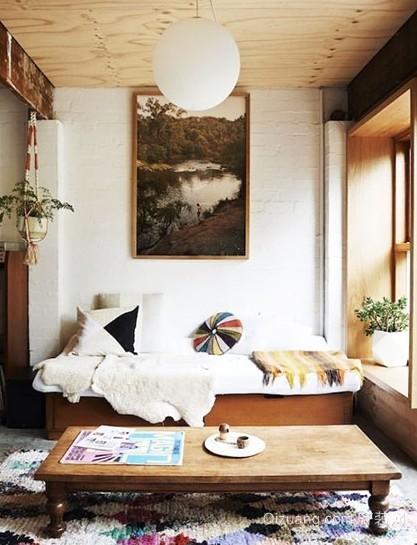 给家添点儒雅气质家居沙发实木茶几装修效果图