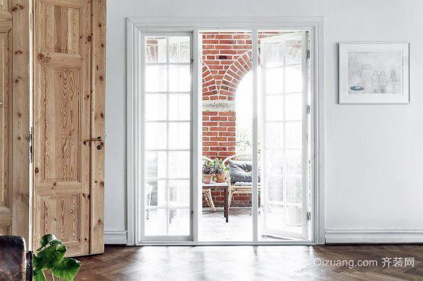 北欧裸砖白色系小户型装修设计图