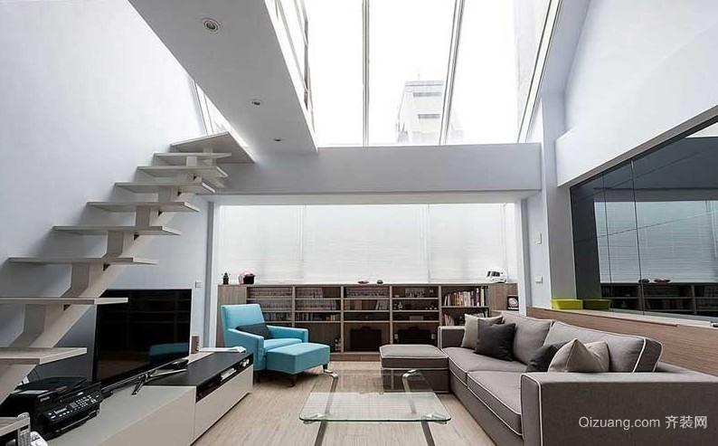 拓展生活空间 120平米简约复式楼装修效果图