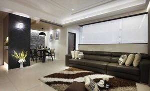 2015前卫时尚简约小客厅沙发背景墙装修效果图
