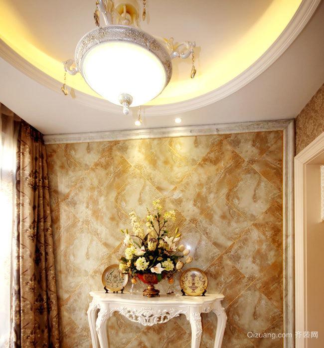145平米欧式古典风格客厅吊顶装修效果图欣赏