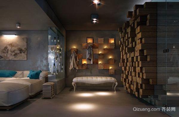 120平米木系简约都市田园杂糅风格房屋装修效果图