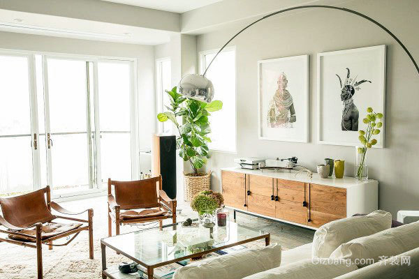 彰显高雅情怀的100㎡室内软装设计案例图