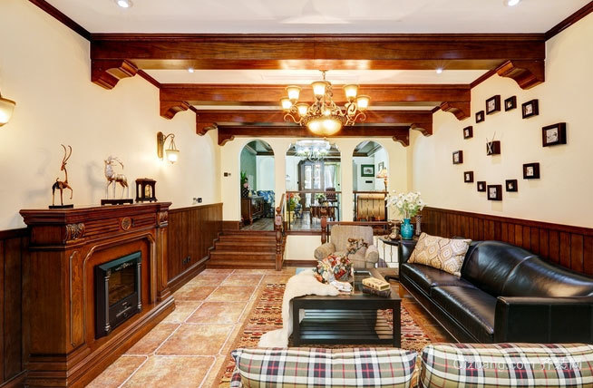 大户型美式古典风格的家居装修效果图鉴赏