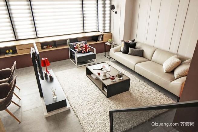 114平米现代简约家庭老房改造装修效果图