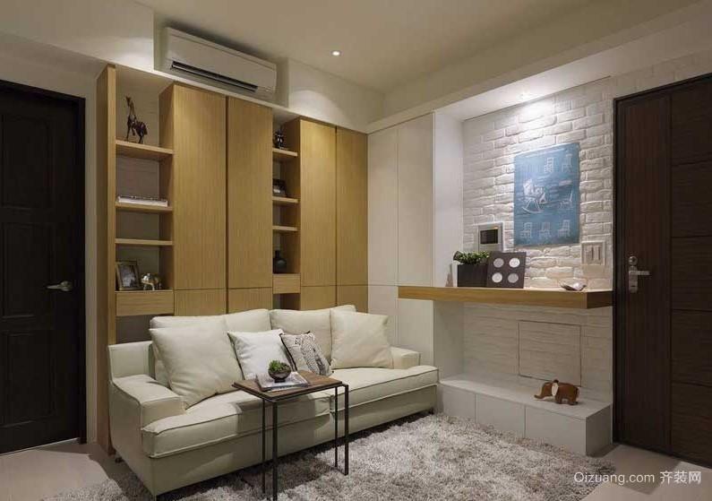 简约流畅70平米两室一厅室内装修设计效果图
