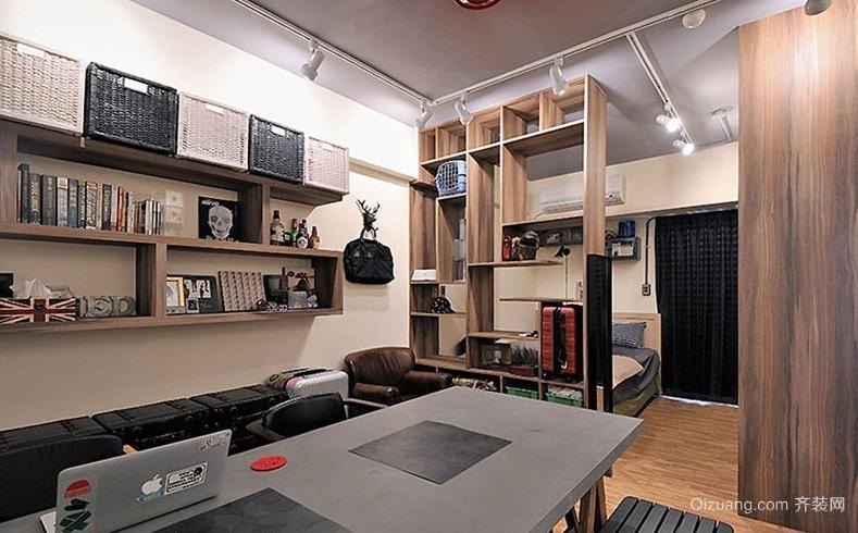 复古工业风40平米小户型一居室家居装修效果图
