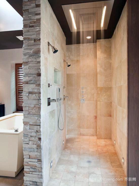 富有设计感的20平米小型卫生间装修效果图