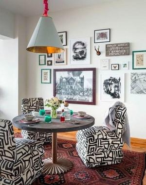 100㎡疯狂混搭的多彩loft公寓装修效果图