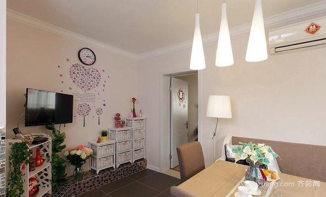60平米小户型浪漫温馨婚房装修效果图