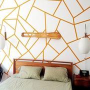 清新型床头背景墙
